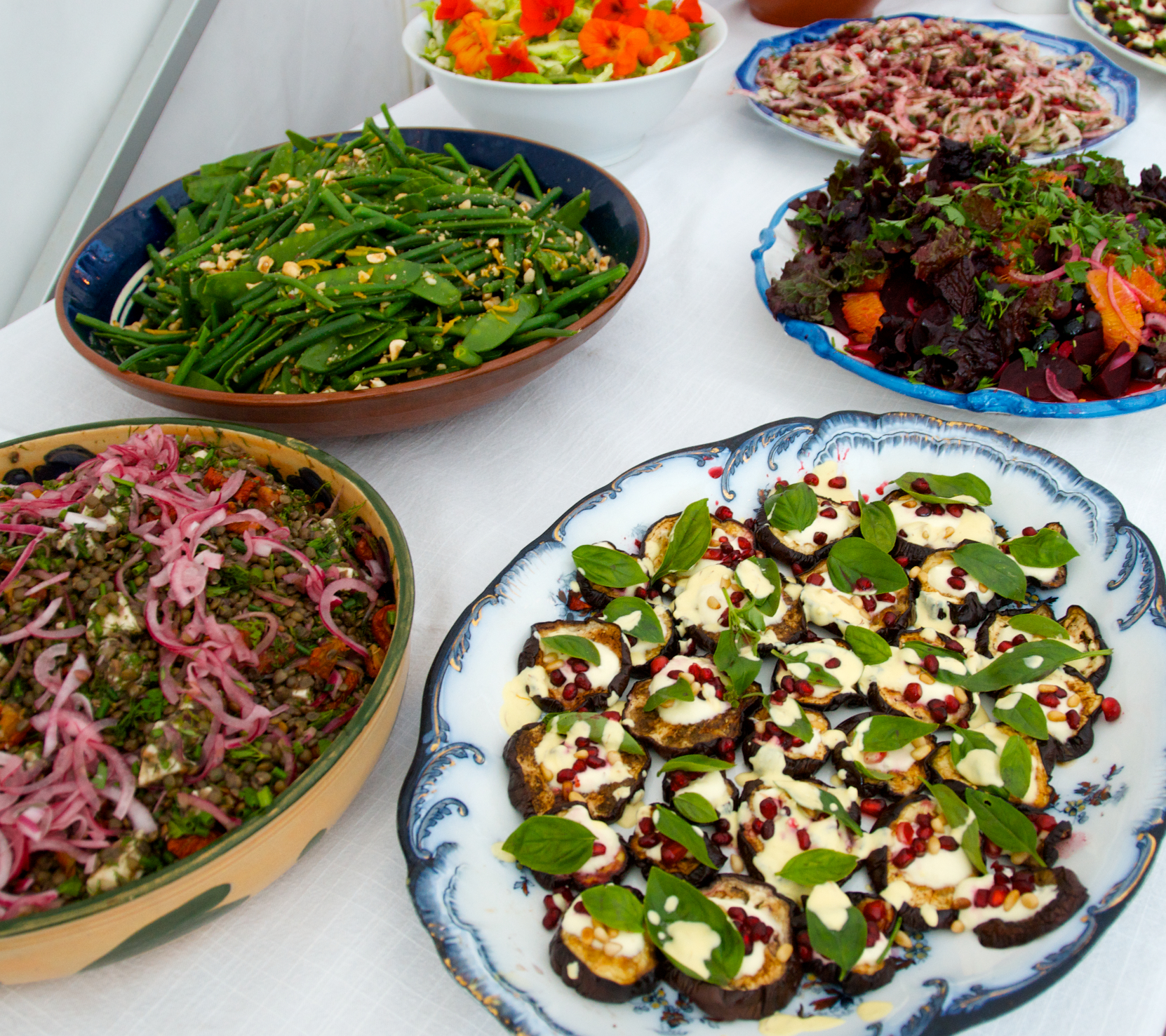 colourful mouthwatering Middle Eastern food